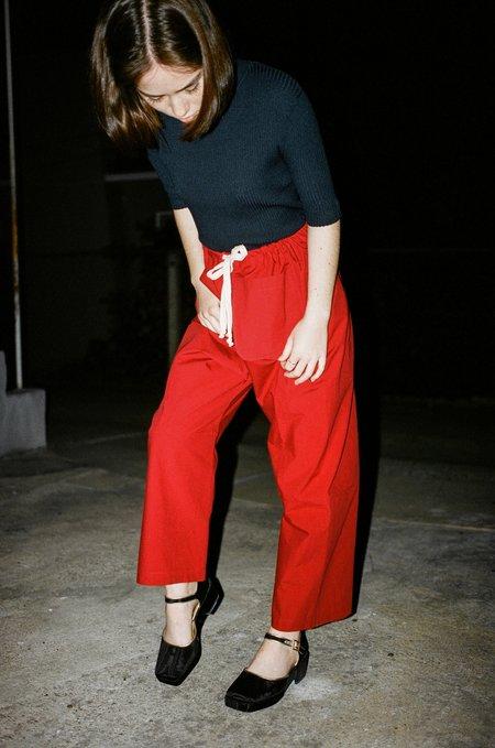 Caron Callahan Fiona Pants in Red Poplin