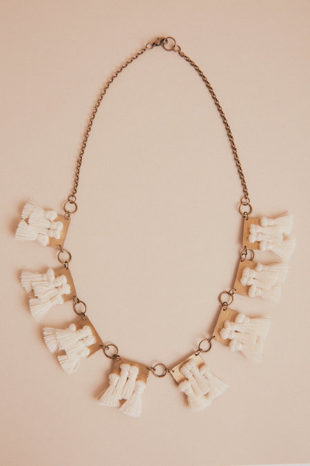 Geography 541 Layers of Clouds Necklace