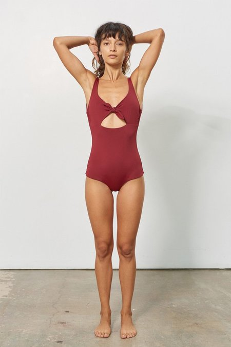 Mara Hoffman Adeline One Piece Swimsuit - Burgundy
