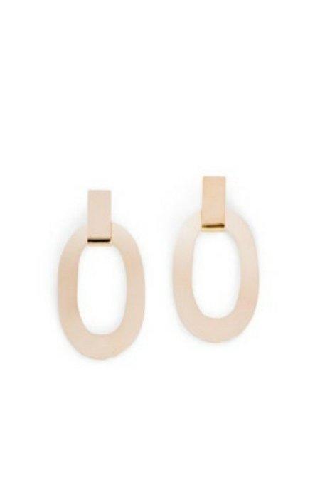 Minoux Suspended Oval Earrings