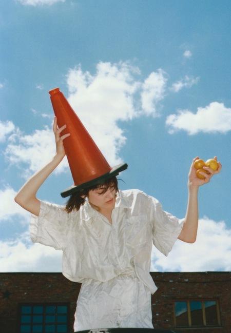 AUDREY LOUISE REYNOLDS CHERRY BLOSSOM PINK BIG SILK BLOUSE