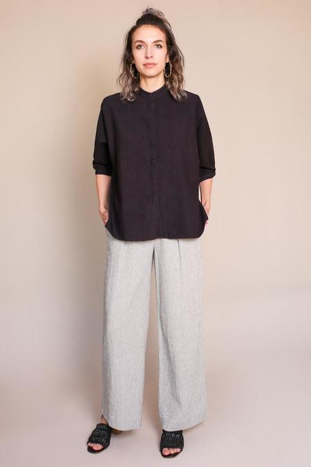 Umber & Ochre Kimono Shirt in Chebula Black