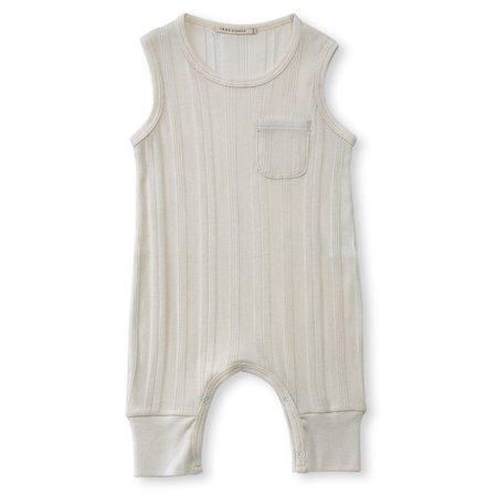 Kids Tane One Pocket Romper - Ecru