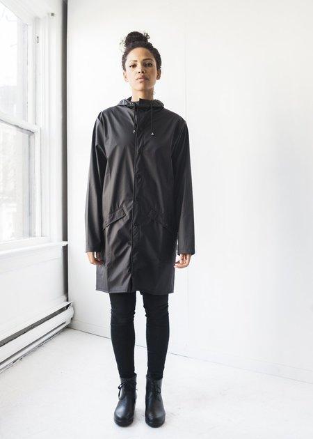 Unisex Rains Long Jacket in Black