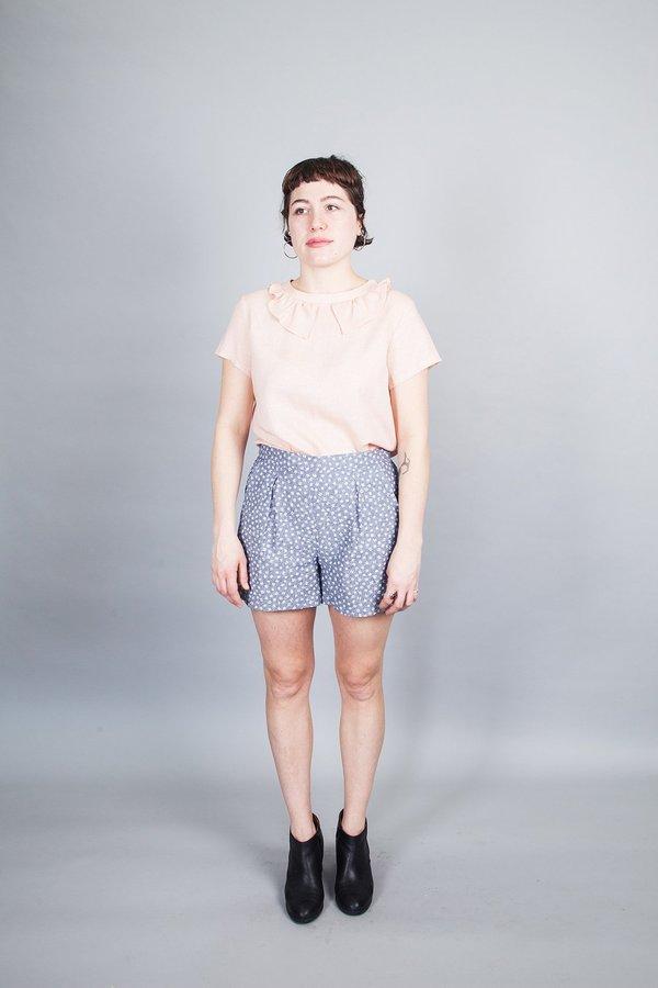 Jennifer Glasgow Keel Shorts - Blue Print