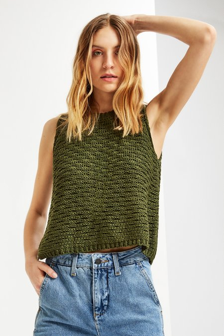 Mila Zovko Eve Tank in Dark Moss
