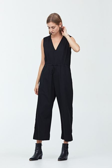 Ali Golden Slit Back Jumper - Black