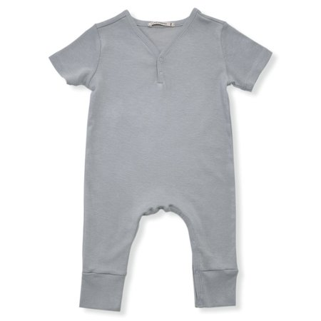 Kids Tane Organics Short Sleeve Coverall - Fog