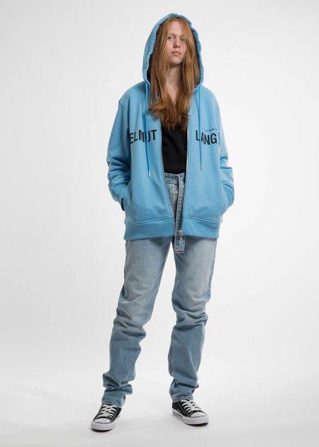 Helmut Lang Sky Blue Campaign PR Zip Hoodie