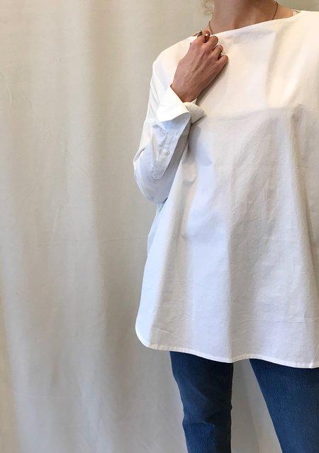 Priory Selt Tunic in Paper White Poplin