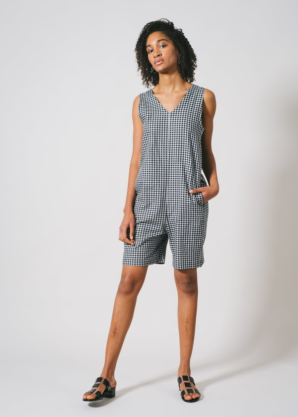 REIFhaus Lou Romper in Gingham