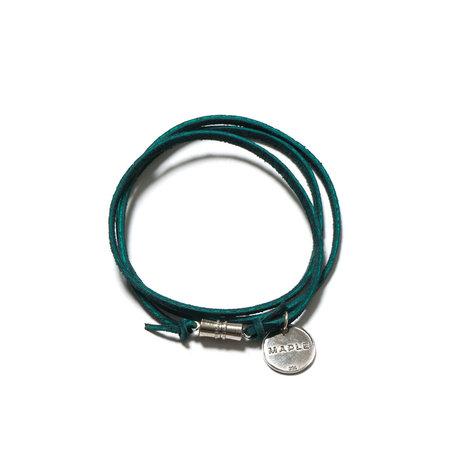 MAPLE Suede Multi Wrap Bracelet - Green