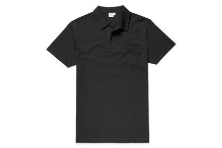 Sunspel Rivera Polo - Black
