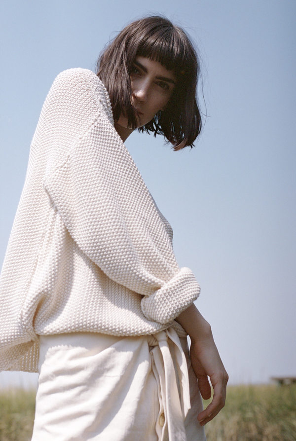 Micaela Greg Seed Sweater in Cream
