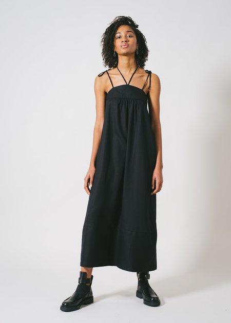 REIFhaus Selene Dress in Black Linen