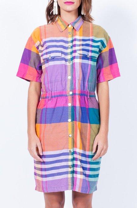 Yo Vintage! Rad Plaid Cotton Dress - Small/Med