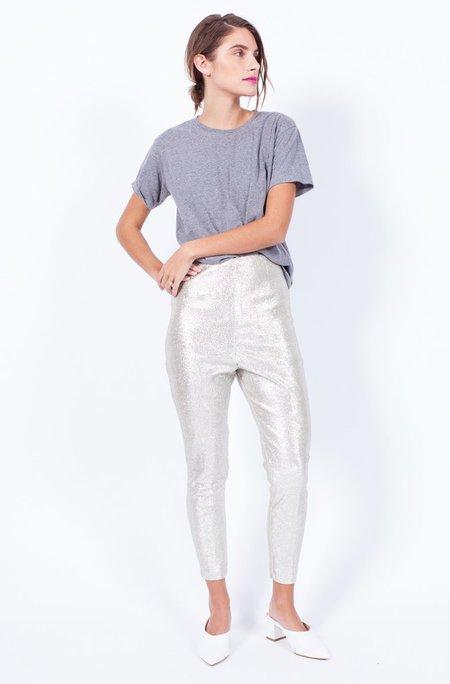 Yo Vintage! Silver Metallic Pants - Small