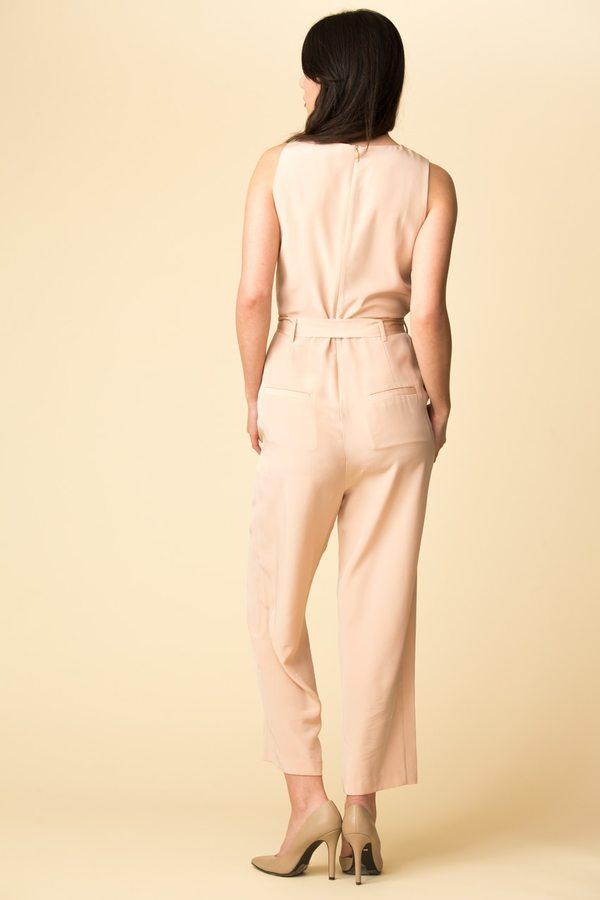 Tibi Silk Jumpsuit With Belt