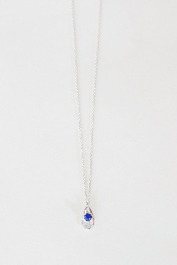 Seaworthy Agua Necklace with Lapis in Sterling Silver