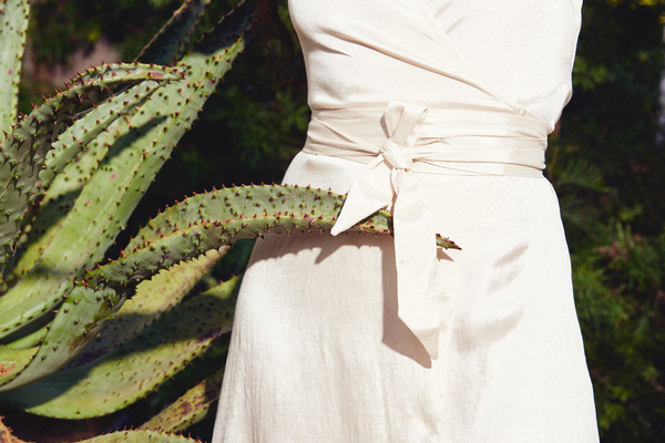 Kamperett Linden Midi Dress in Ivory