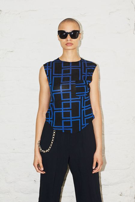 Assembly New York Black Geo Muscle Tee