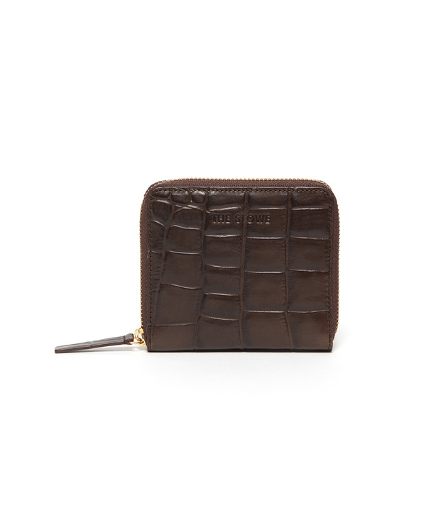The Stowe Square Wallet in Croc