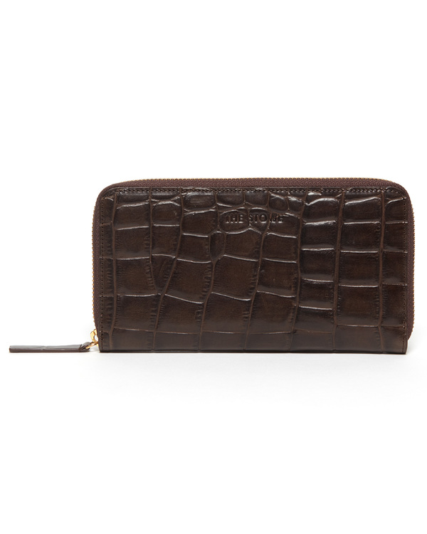 The Stowe Long Wallet in Croc