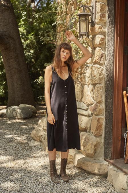 Lacausa Reversible Silk Dress in Tar