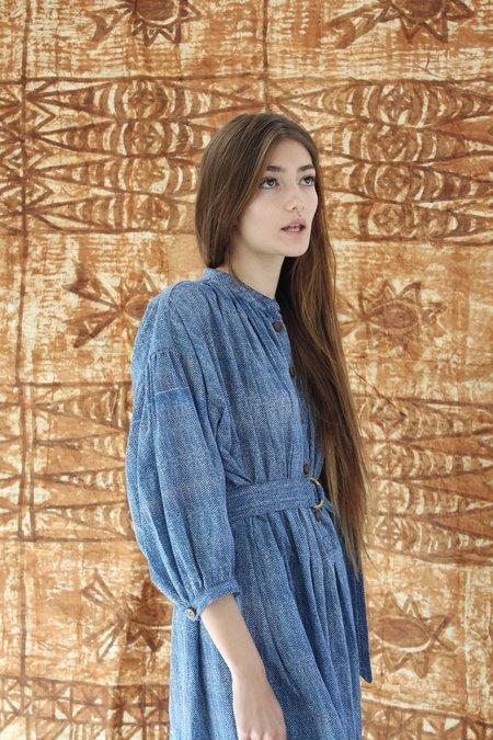 Beklina Bangkok Dress Tiny Blue Check