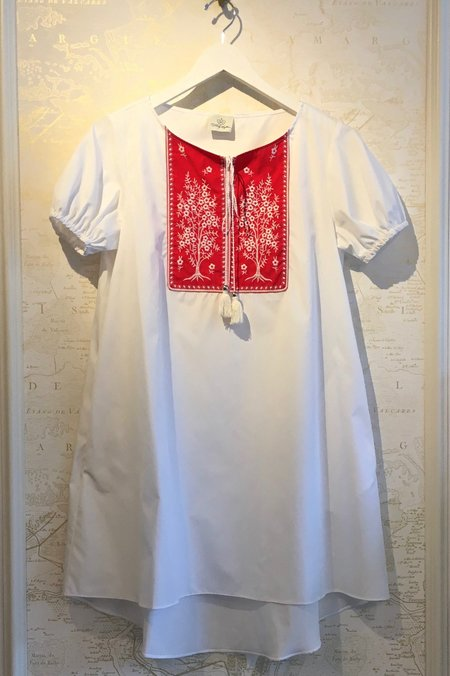Holy Caftan Agave A Line Shirt Dress with Embroidery