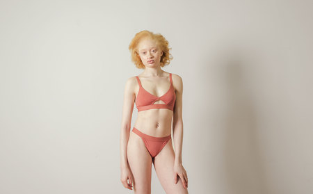 The Nude Label Cut-out Bra in Marshmallow