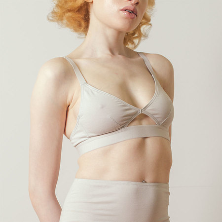 The Nude Label Cut-out Bra in Grey