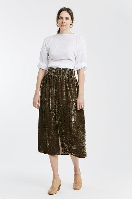 Miranda Bennett Studio Paper Bag Velvet Skirt - Shetland