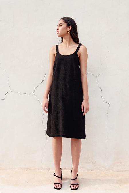 First Rite Dip Dress in Black