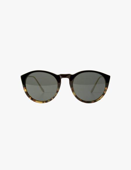 A.D.S.R. Daz Sunglasses - Shiny Black/Havana Yellow/Silver