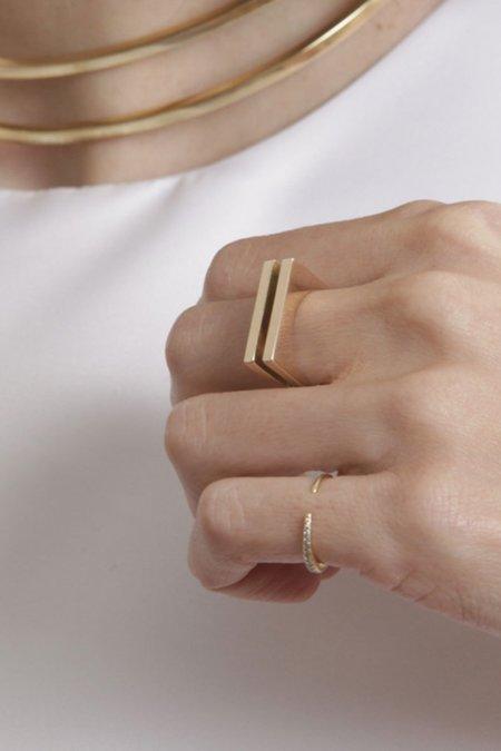Gabriela Artigas Infinite Tusk 1/2 Pave Ring