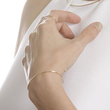 Gabriela Artigas Subtle Band Cuff in 14k Gold