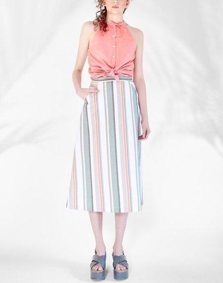 Chistine Alcalay Canvas A-Line Skirt