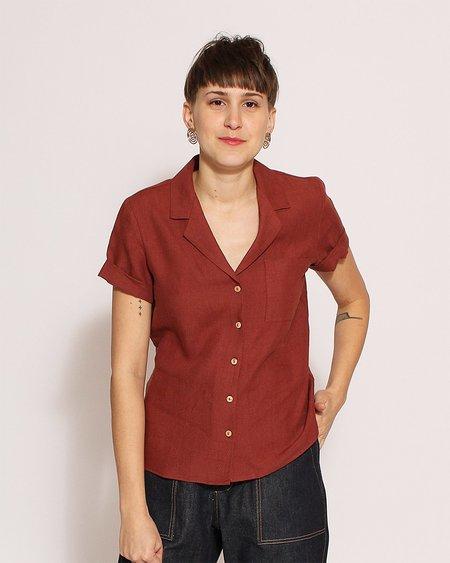 Sunad Basin Shirt in Terracotta