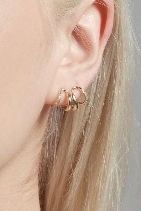 Gabriela Artigas Twin Tusk Pave Earrings