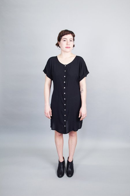 Sara Duke Your Favourite Shirt Snap Dress Black