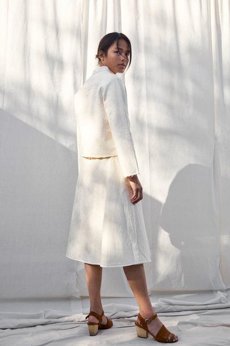 Selva Negra Lucille Jacket In Ivory Denim