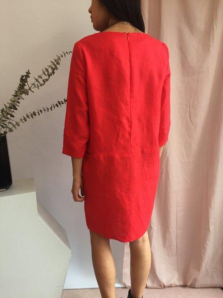 Valérie Dumaine Topaz Dress - Rouge