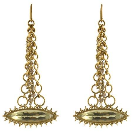 Anthony Nak Earrings - Quartz Marquis