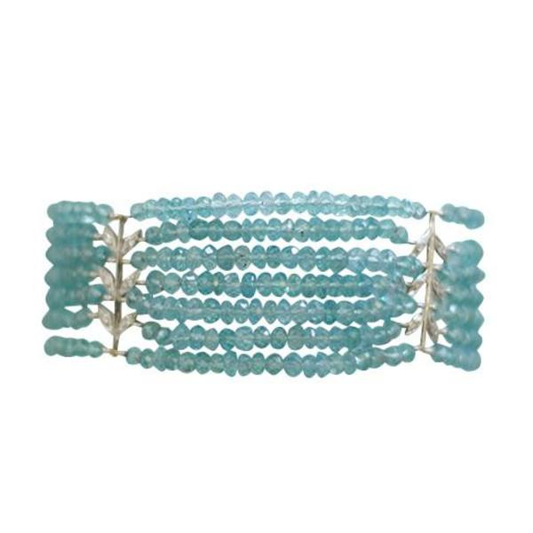 Cathy Waterman Bracelet Apatite 7 Row Wheat