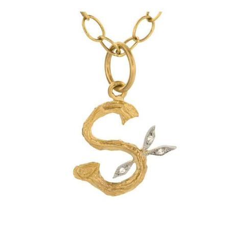 Cathy Waterman Necklace, Branched S Charm