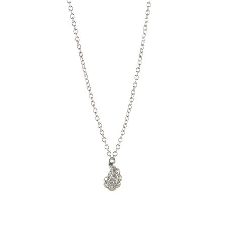 Cathy Waterman Necklace - Tiny Paisley on Chain