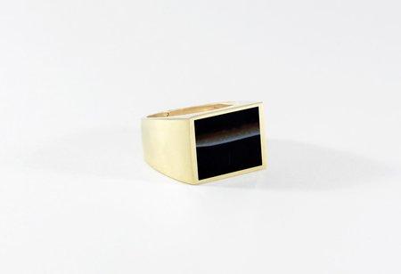 Legier Black Onyx Stone Signet Ring
