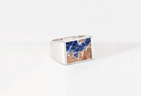 Legier Sodalite Stone Signet Ring