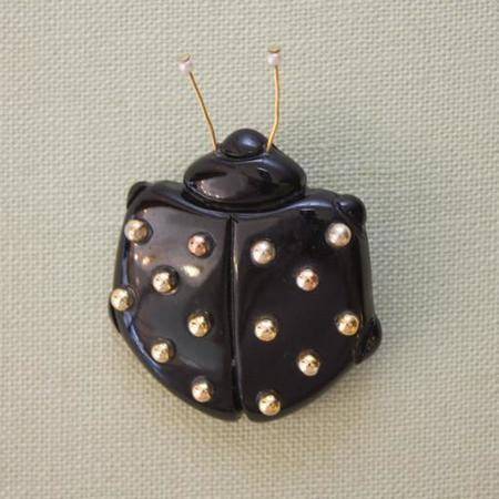Pied Nu Vintage Brooch, Carole Tanenbaum Ladybug